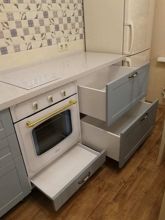 Классические кухни-Кухня МДФ в ПВХ «Модель 28»-фото9