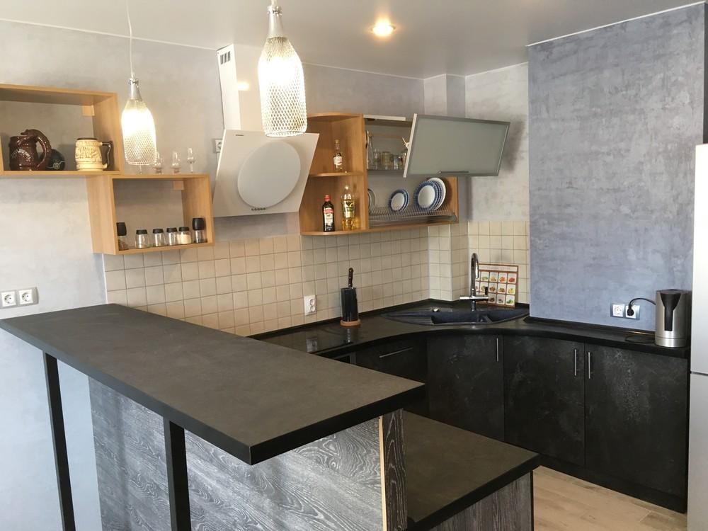 Встроенная кухня-Кухня МДФ в ПВХ «Модель 316»-фото4