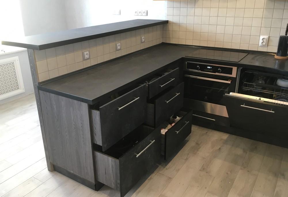 Встроенная кухня-Кухня МДФ в ПВХ «Модель 316»-фото8