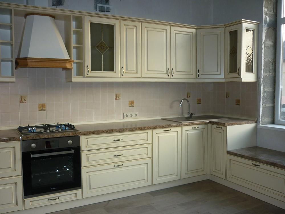 Белый кухонный гарнитур-Кухня из массива «Модель 234»-фото3