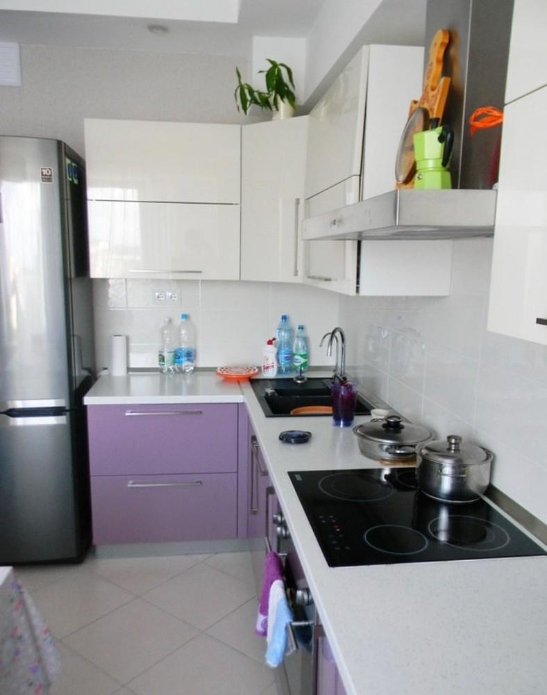 Встроенная кухня-Кухня МДФ в ПВХ «Модель 238»-фото3