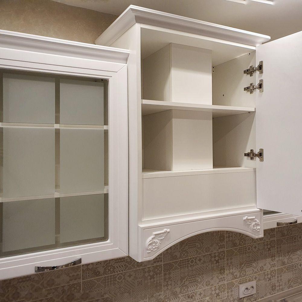 Белый кухонный гарнитур-Кухня МДФ в эмали «Модель 538»-фото5