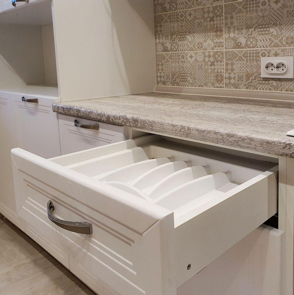 Белый кухонный гарнитур-Кухня МДФ в эмали «Модель 538»-фото7