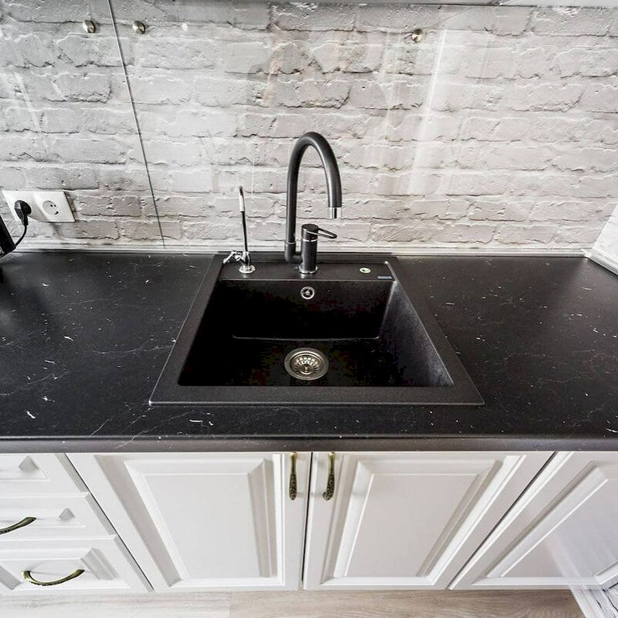 Белый кухонный гарнитур-Кухня МДФ в эмали «Модель 641»-фото4