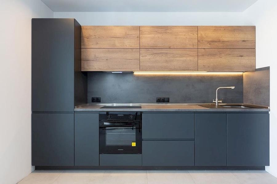 Встроенная кухня-Кухня МДФ в эмали «Модель 585»-фото1