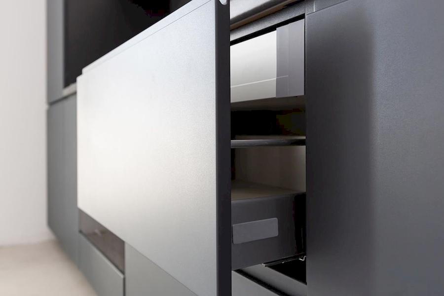 Встроенная кухня-Кухня МДФ в эмали «Модель 585»-фото4