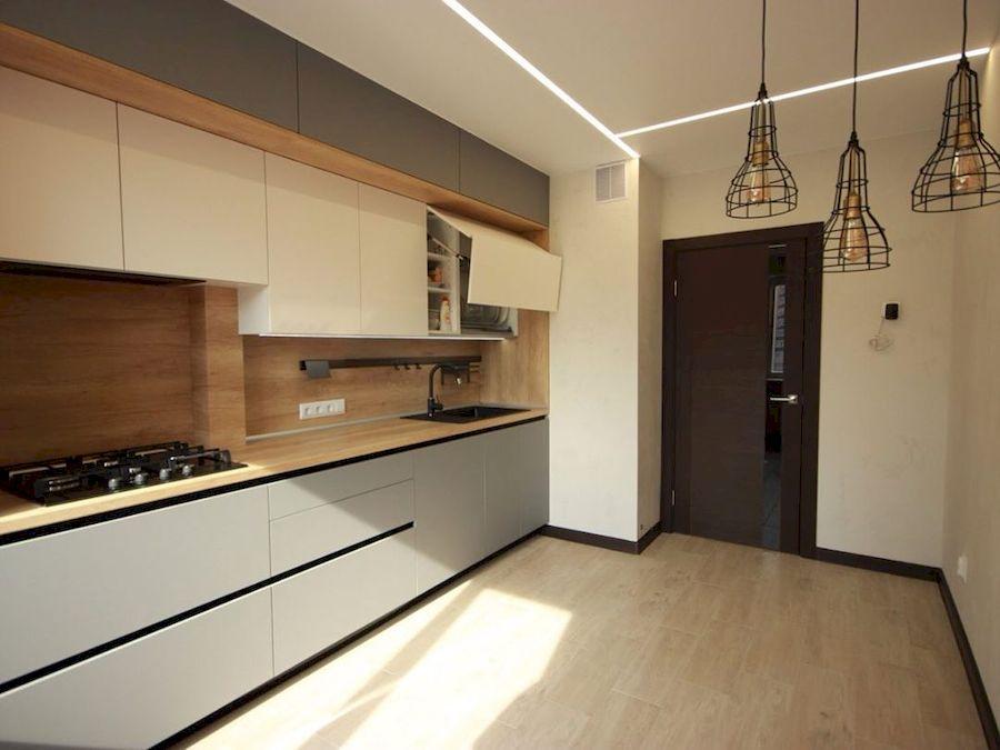 Встроенная кухня-Кухня МДФ в эмали «Модель 662»-фото4