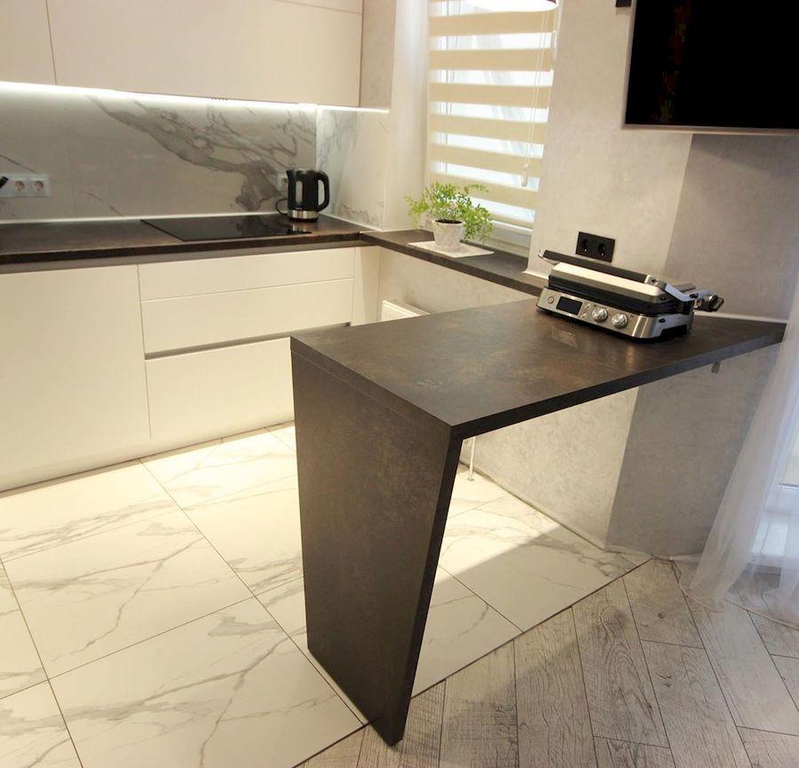 Белый кухонный гарнитур-Кухня МДФ в ПВХ «Модель 660»-фото3