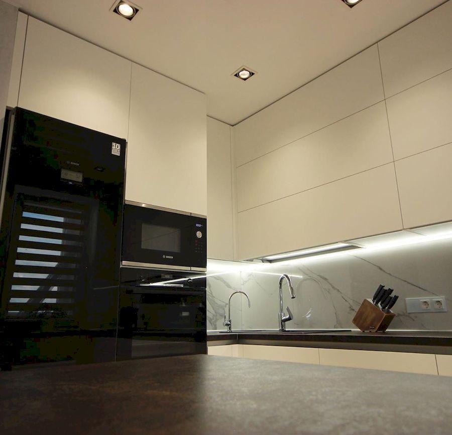 Белый кухонный гарнитур-Кухня МДФ в ПВХ «Модель 660»-фото5