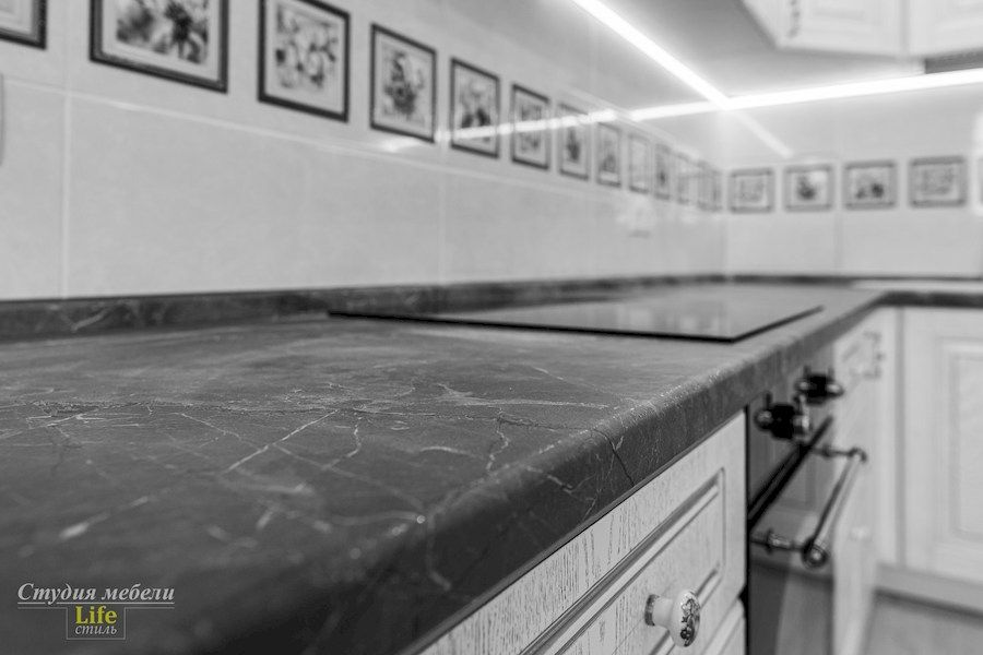 Белый кухонный гарнитур-Кухня из шпона «Модель 562»-фото8
