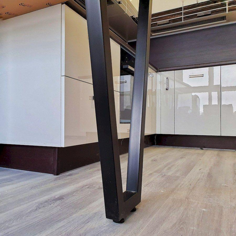 Белый кухонный гарнитур-Кухня из шпона «Модель 560»-фото5