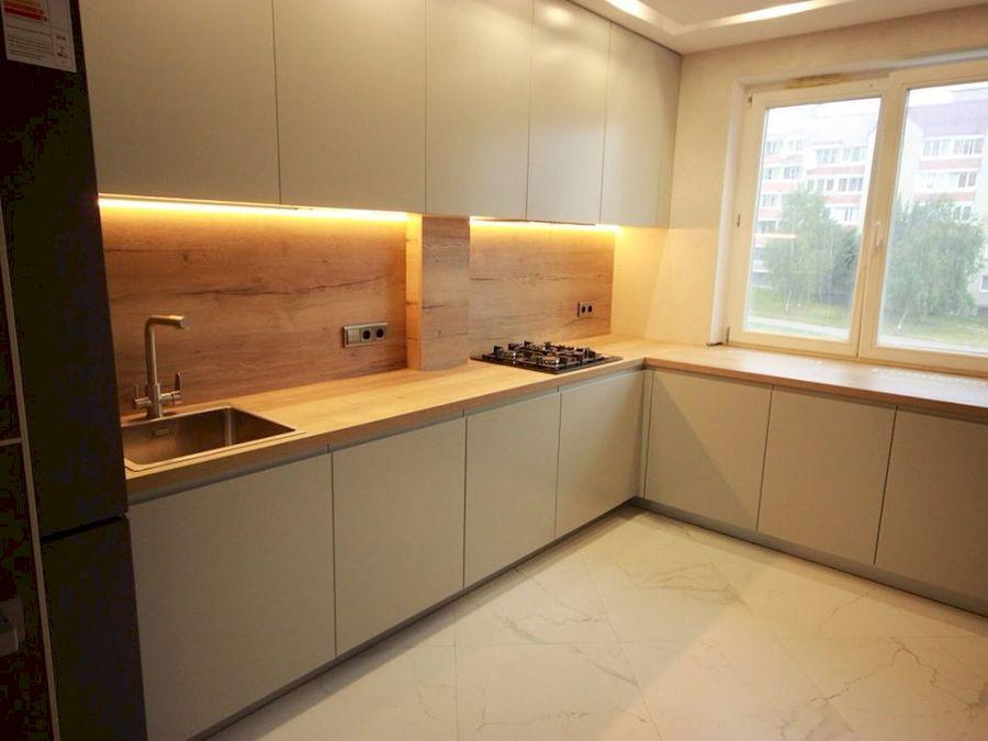 Белый кухонный гарнитур-Кухня МДФ в эмали «Модель 661»-фото1