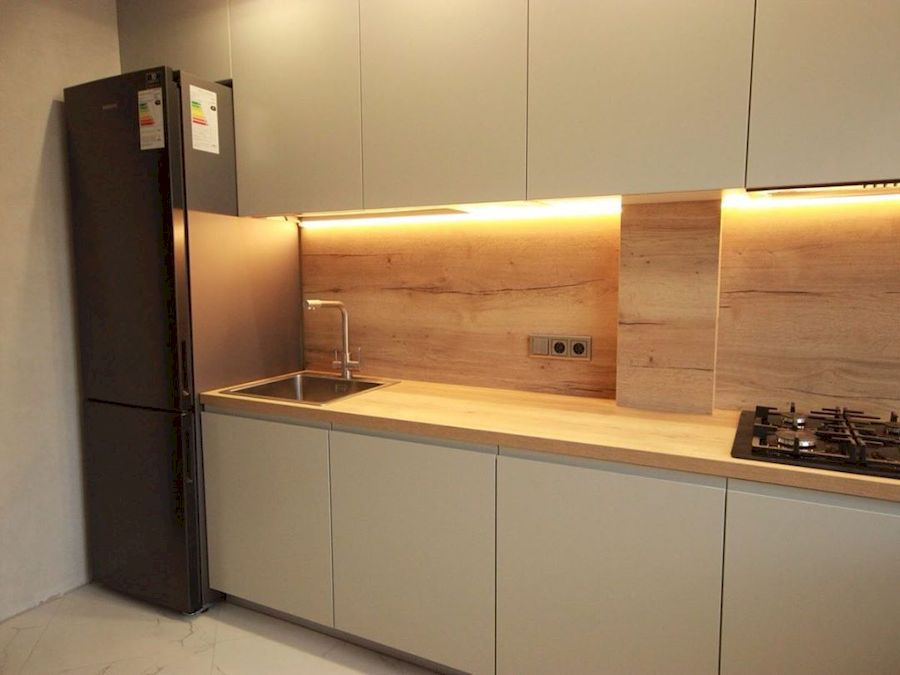 Белый кухонный гарнитур-Кухня МДФ в эмали «Модель 661»-фото4