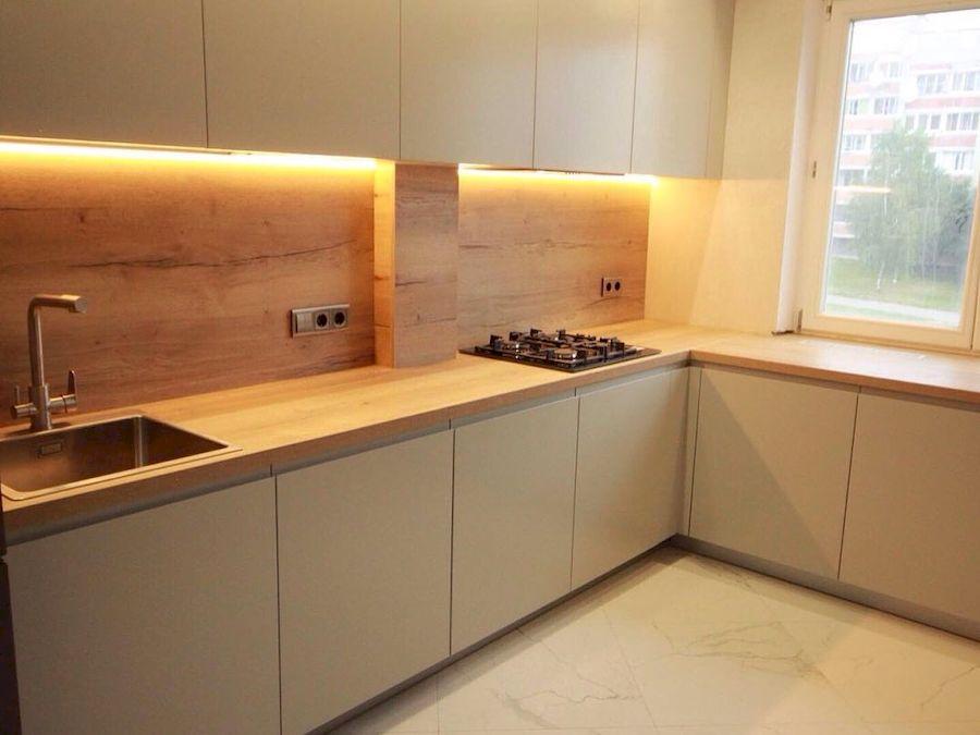 Белый кухонный гарнитур-Кухня МДФ в эмали «Модель 661»-фото2