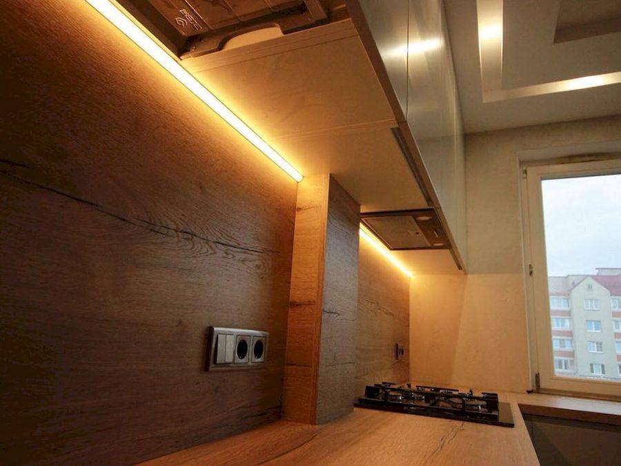 Белый кухонный гарнитур-Кухня МДФ в эмали «Модель 661»-фото7