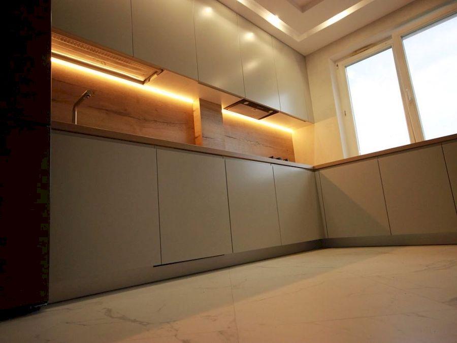Белый кухонный гарнитур-Кухня МДФ в эмали «Модель 661»-фото5