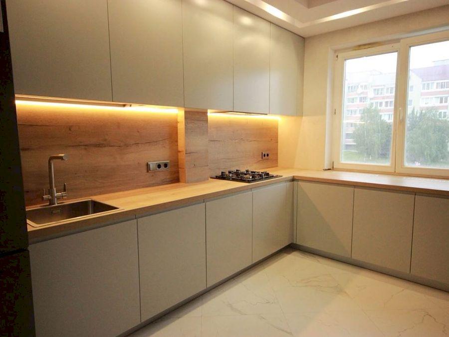 Белый кухонный гарнитур-Кухня МДФ в эмали «Модель 661»-фото3