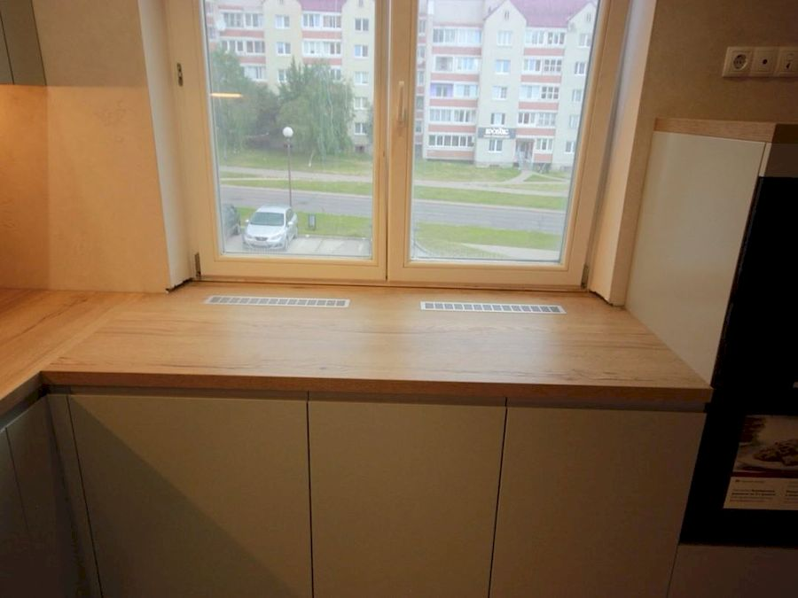 Белый кухонный гарнитур-Кухня МДФ в эмали «Модель 661»-фото6