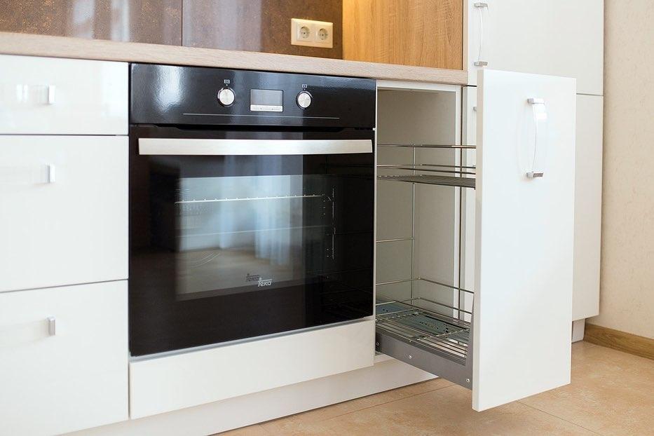 Белый кухонный гарнитур-Кухня МДФ в эмали «Модель 619»-фото6