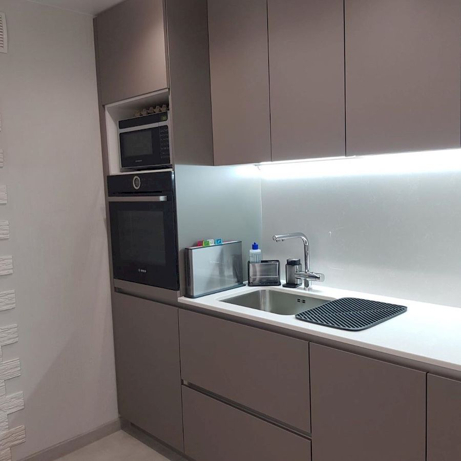 Встроенная кухня-Кухня МДФ в ПВХ «Модель 659»-фото3