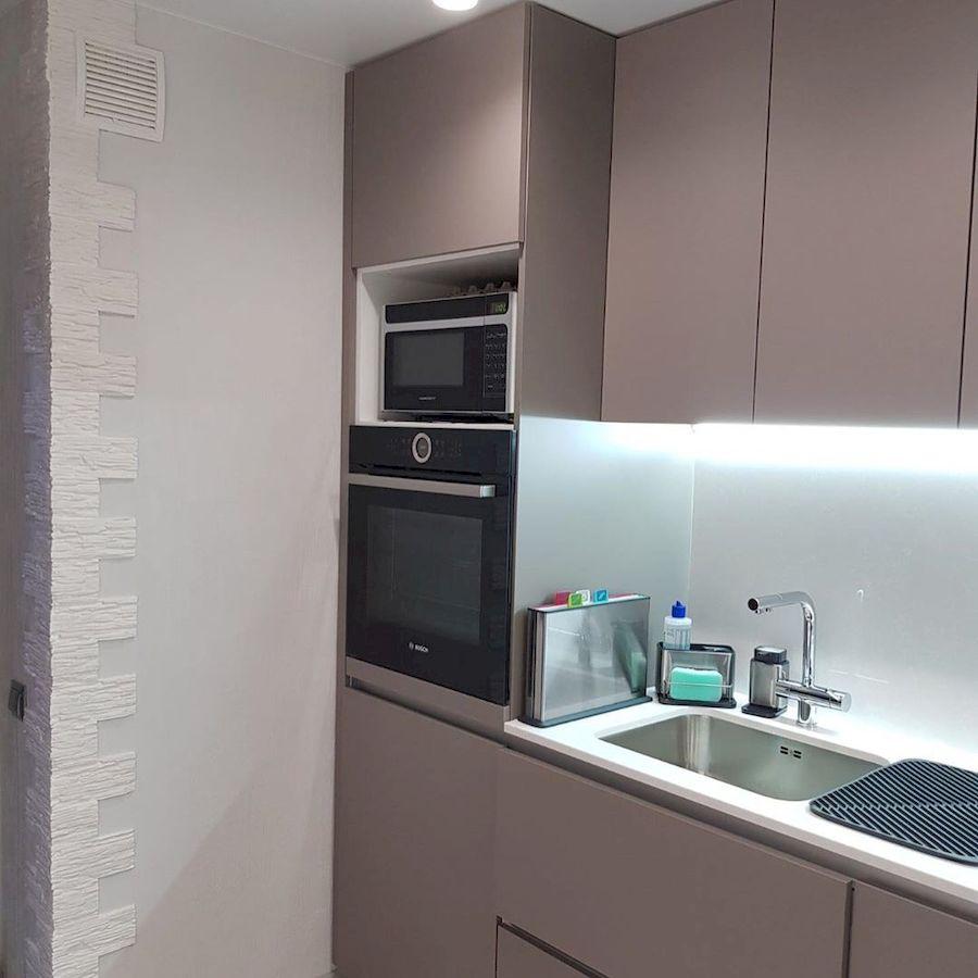 Встроенная кухня-Кухня МДФ в ПВХ «Модель 659»-фото4