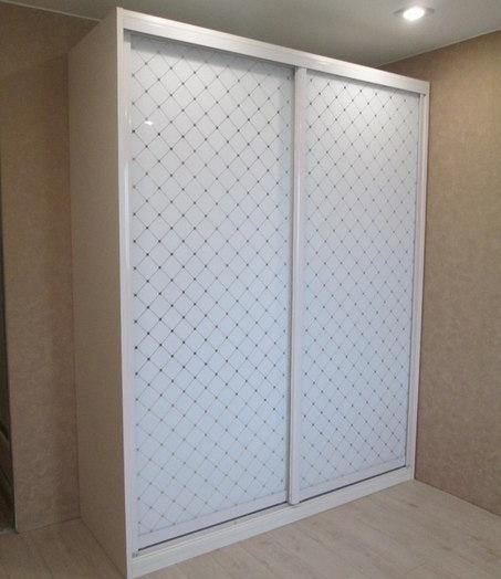 Белые шкафы-купе-Шкаф-купе из стекла «Модель 296»-фото2