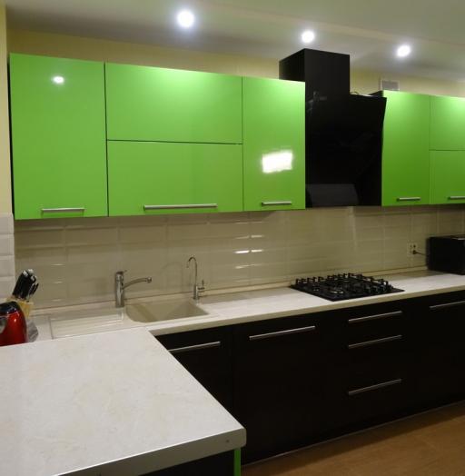 Акриловые кухни-Кухня из акрила «Модель 288»-фото3
