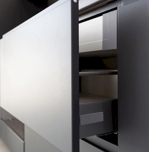 Встроенная кухня-Кухня МДФ в эмали «Модель 585»-фото6