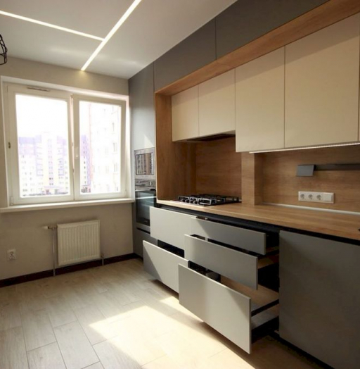 Встроенная кухня-Кухня МДФ в эмали «Модель 662»-фото7